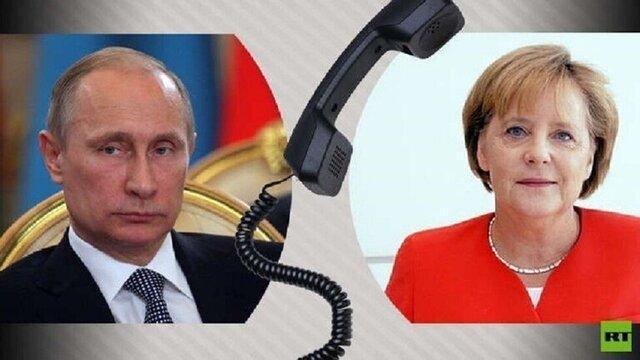 پوتین و مرکل درباره سوریه و اوکراین با هم گفتگوکردند