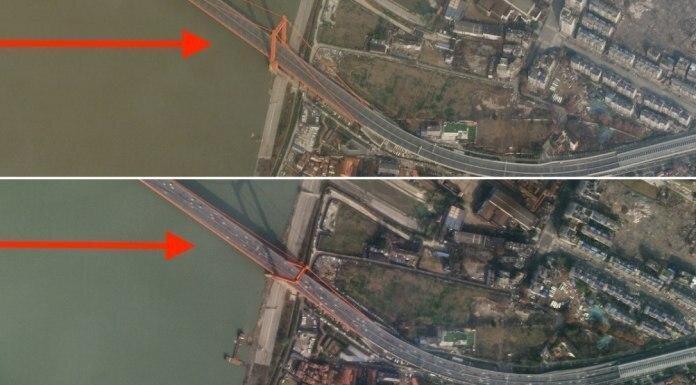 عکس ، تصویر ماهواره ای از خیابانی در ووهان ؛ قبل و بعد از قرنطینه