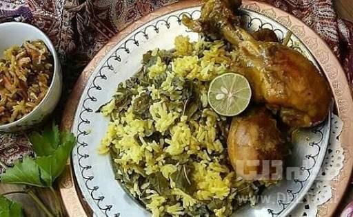 تاک پلو، غذای محلی شاهرودی