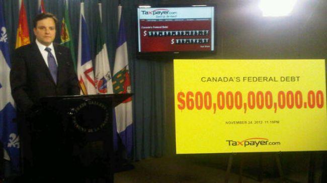 بدهی ملی کانادا، فراتر از 600 میلیارد دلار
