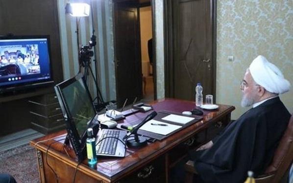 گفت وگوی ویدیو کنفرانسی رئیس جمهور با پرسنل بیمارستان امام خمینی (ره)