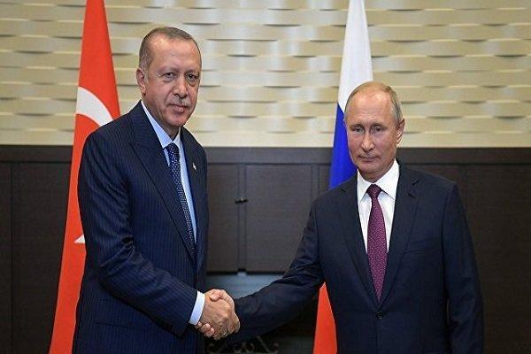 اردوغان روز پیروزی را به پوتین تبریک گفت