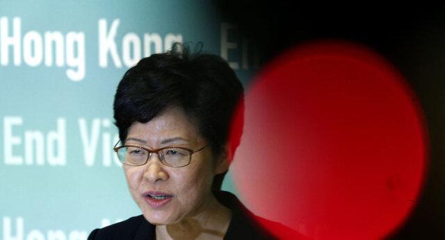 رهبر هنگ کنگ: هرج و مرج بیشتر تحمل نمی گردد، همه از اعتراضات درس بگیرند