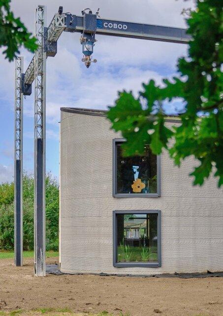 ساخت خانه ای دو طبقه با بزرگترین چاپگر 3 بعدی اروپا