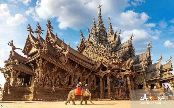 معبد پناهگاه حقیقت؛معبدی از جنس چوب در پاتایا، عکس