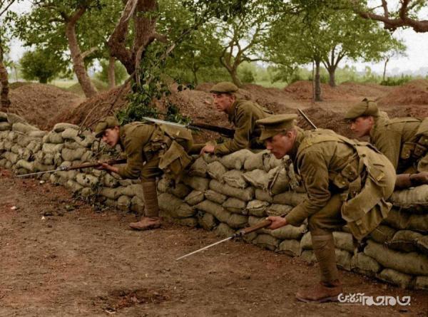جنگ جهانی اول به حکایت تصاویر رنگی
