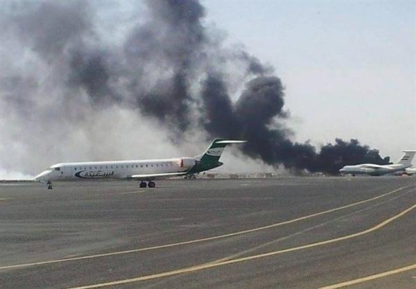 ائتلاف سعودی فرودگاه بین المللی صنعاء را بمباران کرد
