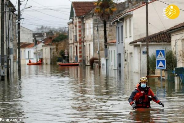 جاری شدن سیل در فرانسه