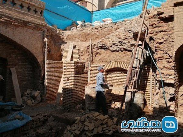 بازسازی حوض و رختشویخانه تاریخی محله محمدیه تمام شد