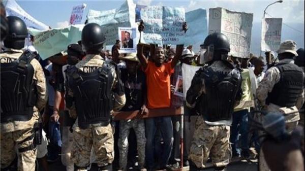 تظاهرات مخالفان رئیس جمهور هائیتی به خشونت کشیده شد
