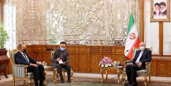 وزیر امور خارجه روسیه به ملاقات قالیباف رفت