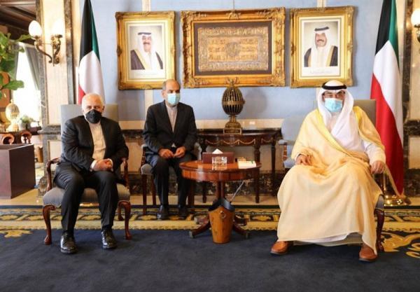 ظریف با نخست وزیر کویت دیدار کرد