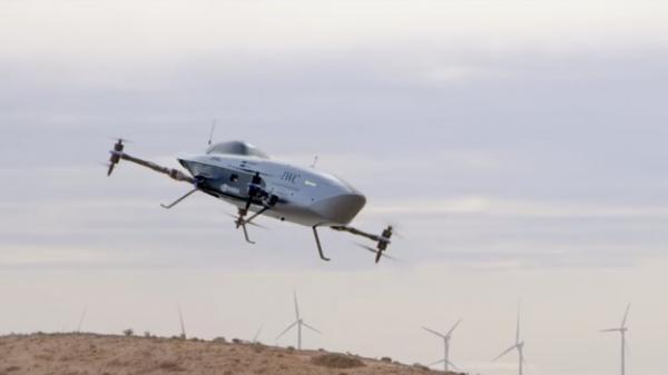 نخستین پرواز تاریخی خودروی پرنده برقی مسابقه ای